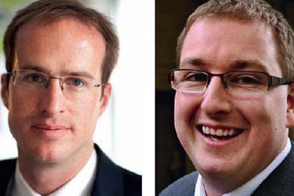 Teaming up: Matthew Elliott (left) and Jonathan Isaby