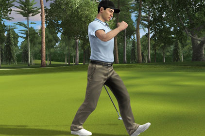 Computer golf game: Tiger Woods