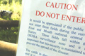 Foot-and-mouth crisis: Defra signs warn the public not to enter the surveillance zone