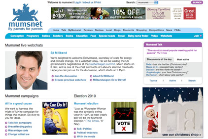 Key target: Mumsnet users