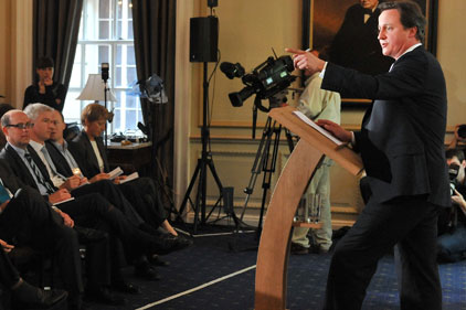 David Cameron: press team now under scrutiny