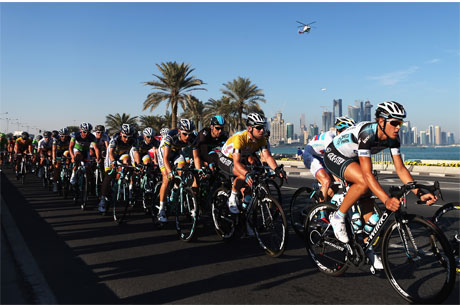 Sporting variety: The Tour of Qatar is held every February (Credit: Getty Images)