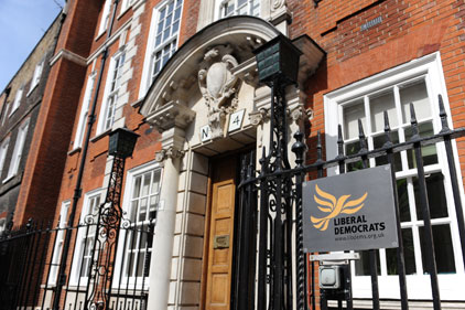 Lib Dem HQ at Cowley Street