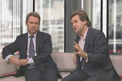 Banking compliance: Alex Evans (left) and Jonathan Shillington