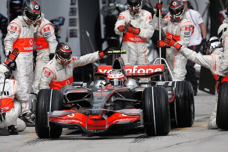 McLaren: team driver Sergio Perez suffered one of the blowouts
