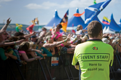 Crowd control: G4 staff are employed to handle outdoor events