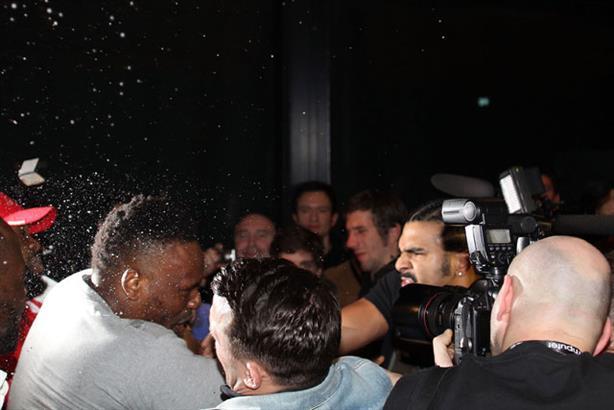 Post-match clash: Dereck Chisora and David Haye (Press Association)