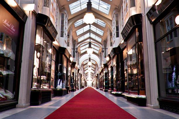 Burlington Arcade: wants to target quintessentially British publications