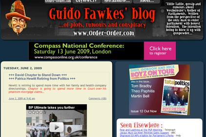 Guido Fawkes: popular political blogger