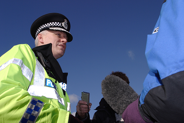 Police media relations: any questions? (Credit: Steven May/Alamy Stock Photo)