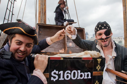 Christian Aid: pirate protest