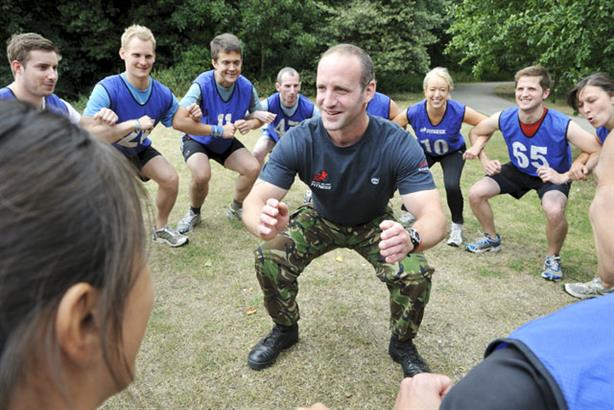 On exercise: British Military Fitness
