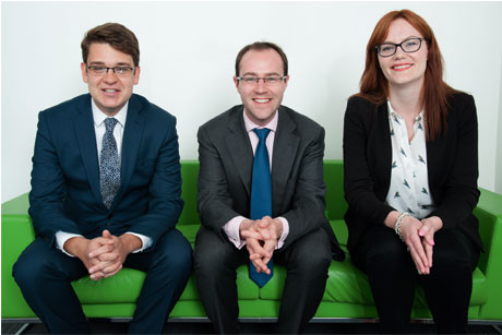Director hires: From left, Malcolm Sullivan, Mark Detre and Christine Quigley