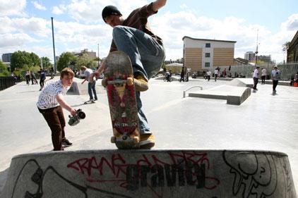 On the line-up: skateboarding