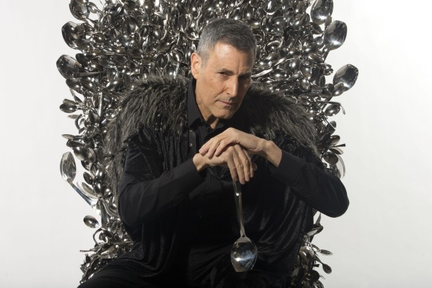 Uri Geller: On his 'throne of spoons' for Kellogg's