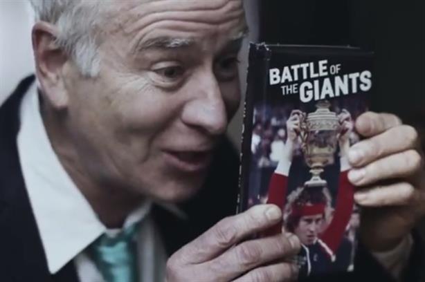 John McEnroe: door-to-door salesman in Aegon's film