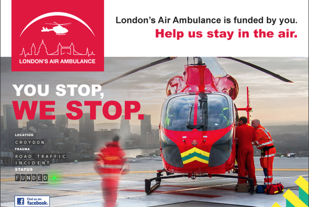 London Air Ambulance hopes to grow its donor base and social media following with the digital campaign