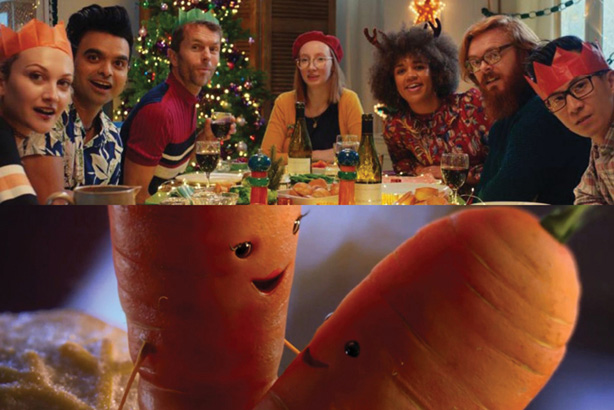 Lidl (above) celebrates Christmas quirks, while Aldi creates Kevin the Carrot sequel