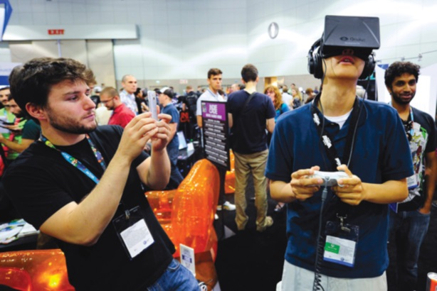 Users can experience new worlds using the Oculus Rift virtual reality headset.