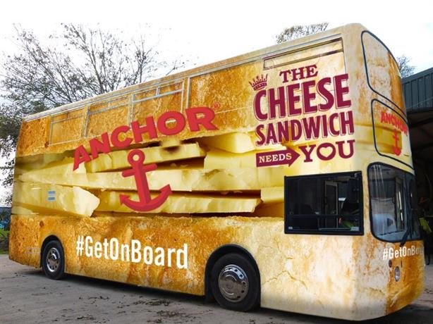 Battle bus: Anchor Cheddar is embarking on The Cheese Sandwich Needs You tour