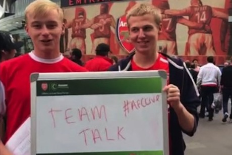 Europcar and Arsenal partnership: An image from the live blog