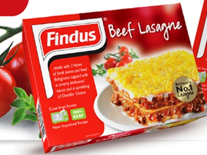 Findus: Beef Lasagne product withdrawal