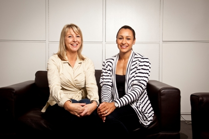 Jane Cowmeadow and Jessica Ennis