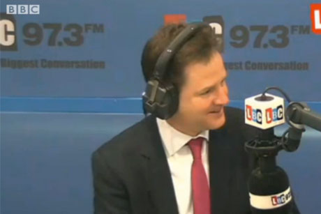 Nick Clegg: Surprise caller