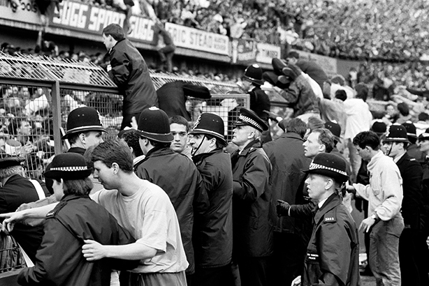 Tragedy: police on the scene at Hillsborough in 1989 (Credit: Roderick Smith/Alamy Stock Photo)