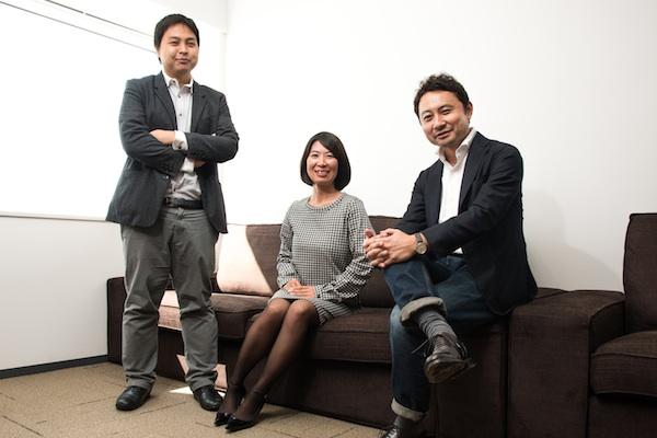Yoshito Nagakawa, VP planning & insight; Megumi Hayakawa, VP accounts; Tetsuya Honda, CEO