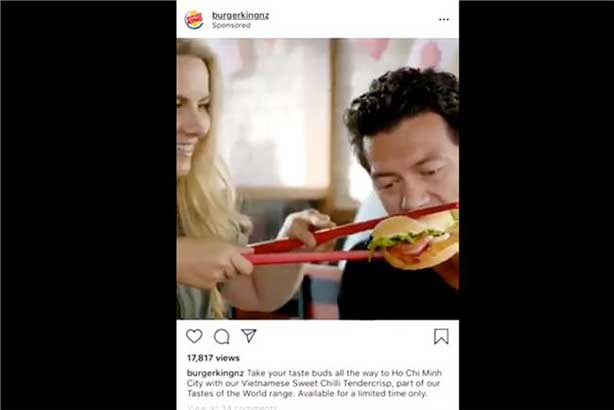 Burger King: ad has since been taken down
