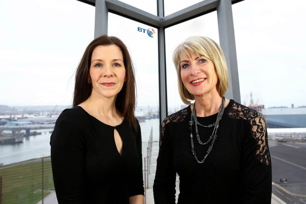 Brief: BT comms head Priscilla O'Regan (left) and Smarts Communicate joint MD Leontia Fetherston