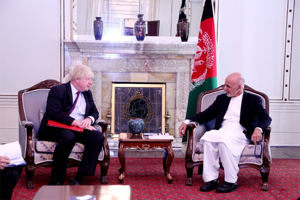 Boris Johnson happened to be in Afghanistan when the Heathrow vote took place (image via @BorisJohnson on Twitter)