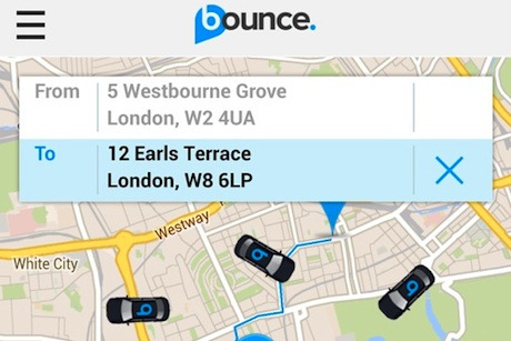 Bounce: Offers customers fixed-fare and cash-free journeys