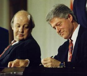 Brady with President Bill Clinton