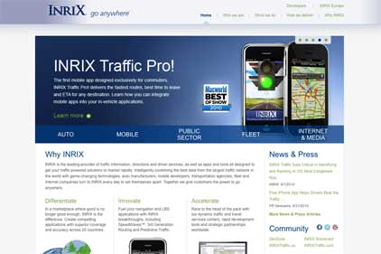 Traffic information provider: INRIX