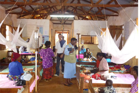 Global fightback:  A clinic in Tanzania treats patients with malaria (Credit: Jeffrey Gluck)