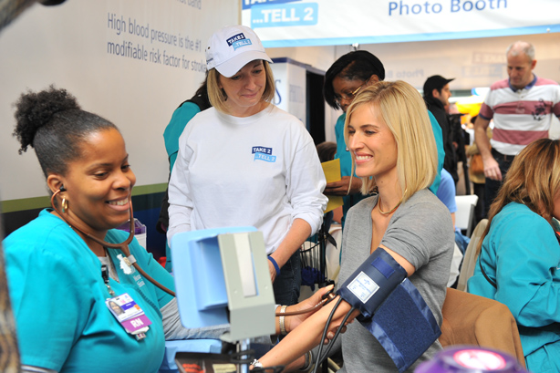 Blood pressure screenings were provided to people at events in the US, Brazil, Ireland, and South Korea.