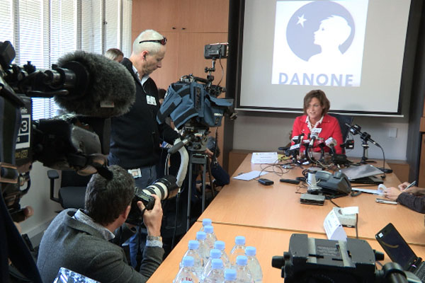 Danone Nutricia ANZ MD Corine Tap addresses the media