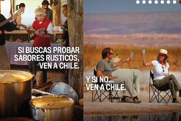 Turismo Chile: current marketing material