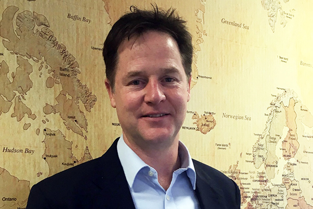 Nick Clegg will move to the US in January to work for the social media giant (image via @nick_clegg on Twitter)