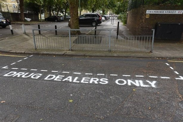 Residents mounted a guerrilla campaign to highlight the problem of drug dealing in the Columbia Road area