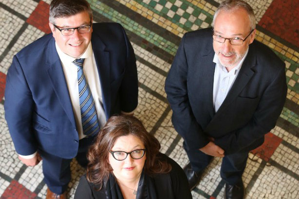 Deal (clockwise from top left): Andy Sawford, managing partner, Connect; Quintin Oliver, founder and outgoing director, Stratagem; Gráinne Walsh, director, Stratagem