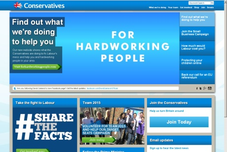 Conservative website: old content removed