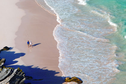 Pink sand beaches: Bermuda