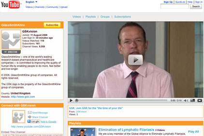 GSK: launches YouTube videos