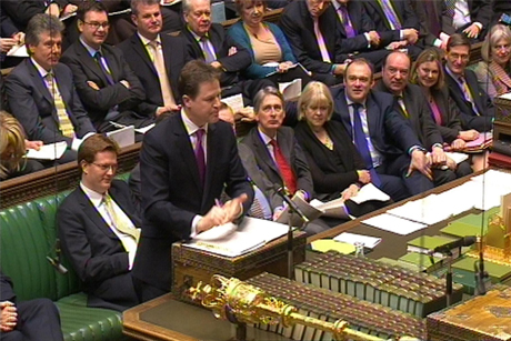 Call for action: Nick Clegg held cross-party talks on funding  (Credit: Press Association)