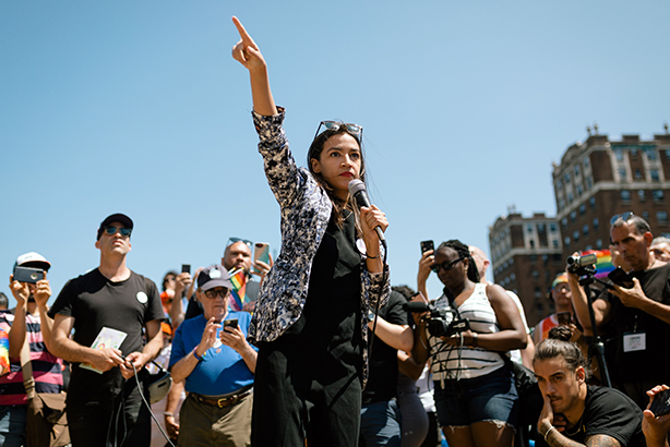 Alexandria Ocasio-Cortez draws a crowd wherever she goes. (Photo credit: David Bello Jr.)