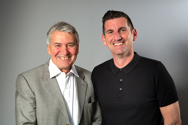 The Mission Marketing Group chair David Morgan (left) and new CEO James Clifton