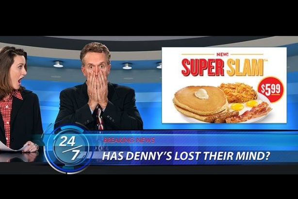 Denny's promoted its new breakfast offering with a clever Super Slam stunt.